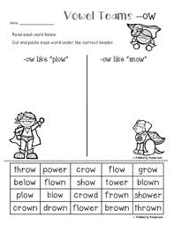 superheroes superheroes card sort and worksheet ow vowel teams