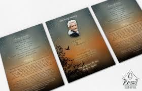 Funeral Programs Online Funeral Program Keepsake With Sunset Design Printable
