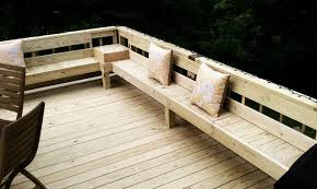 Wood Bench Designs Decks by Perimeter Bench Seating On Deck Love This Remodeling Ideas