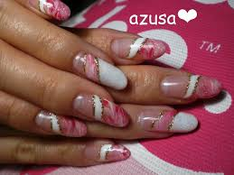 marble french gel nail art gallery