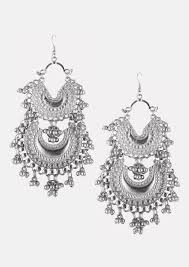 metal earings buy crescent with ghungroo earrings for accessories in