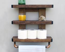 Wooden Shelves For Bathroom Bathroom Shelf Etsy