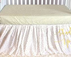 gold crib skirt etsy