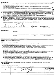 Revocation Power Of Attorney Form by Icann Application For Tax Exempt Status U S Form 2848 Page 2
