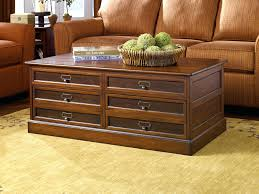 wood coffee table with storage coffee table with drawers mercantile rectangular storage chest