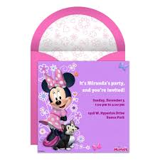 online invitations minnie mouse party online invitation disney family