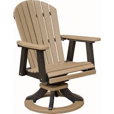 Quality Adirondack Chairs Berlin Gardens Comfo Back Adirondack Swivel Rocker Dining Chair