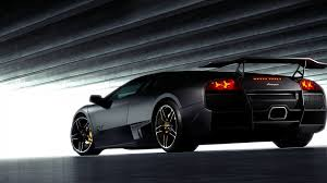 black lamborghini back view hd wallpapers 1080p cars ololoshenka