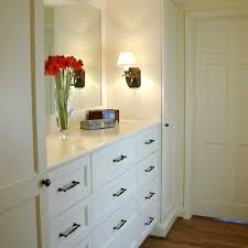Bedroom Dresser With Mirror by Wonderful Built In Dresser With Mirror And Sconces And Tall