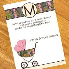 baby shower thank you notes pink camo baby shower personalized thank you notes