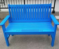 Park Bench Made From Recycled Plastic Memorial Park Bench Made From Recycled Plastic Resis Memorial