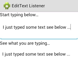 text android android edittext text change listener exle