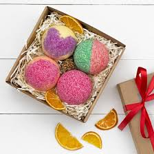 Wedding Gift Set Seychelles Fruit Blast Bath Bomb Gift Box Spa Set Pack Of 4