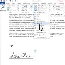 sign a word document with your signature steve chase docs