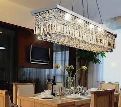 best rectangular crystal chandelier dining room vallkin modern