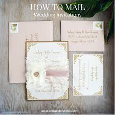 mailing wedding invitations 5 steps to mailing wedding invitations paper lace