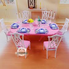 Dollhouse Dining Room Furniture Diy Plastic Doll House Dollhouse Kitchen Dining Room Furniture