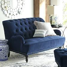 Dark Blue Loveseat Blue Velvet Sofa Bed Dark Loveseat Navy Settee 23291 Interior