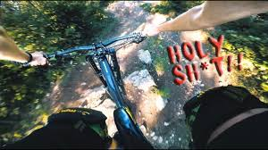 Blind Man Rides Bike Horror Run How Not To Ride A Downhill Trail Blind Follow Run