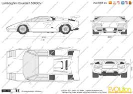 lamborghini car drawing the blueprints com vector drawing lamborghini countach 5000qv