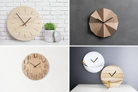 home decor wall clocks 14 modern wood wall clocks to spruce up any decor contemporist