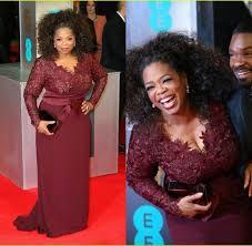 modest plus size evening dresses red carpet 2016 burgundy oprah