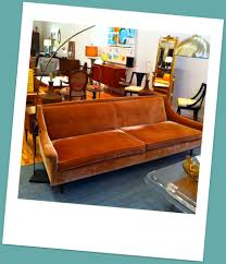 Orange Sofa Living Room by Love Love Mid Century The Fabric The Color I U0027m In Love My