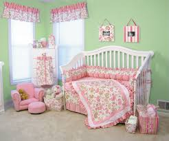 bedroom pink crib bedding by paisley bedding with green wal and