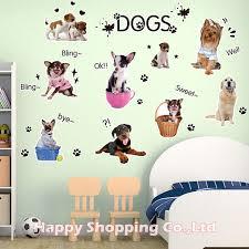 stickers cuisine enfant diy chiens 3d stickers muraux pour enfants chambre de bébé