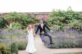 wedding photography walled garden at cowdray