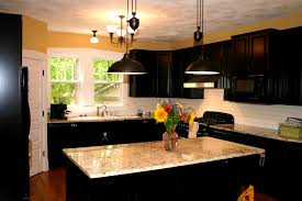 bathroom dark cabinets with light granite countertops dark