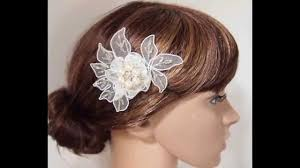 how to do the country chic hairstyle from covet fashion ehow diy handmade shabby chic lace flower wedding bridal head piece