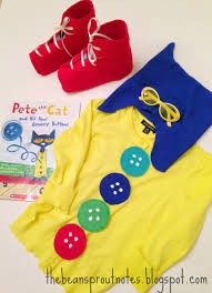 the bean sprout notes pete the cat four groovy buttons costume