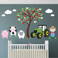 nursery wall art enchanted interiors farm animal and tractor wall stickers neutral