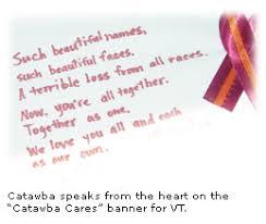 catawba message regarding virginia tech tragedy from catawba