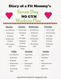 workout plans for beginners at home diary of a fit mommy s 7 day no gym workout plan diary of a fit