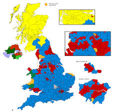 Proportional World Map by Proportional Representation And First Past The Post Polls Apart