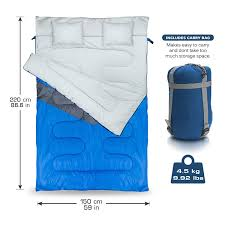 Waterproof Outdoor Cushion Storage Bag by Double Sleeping Bag Queen Size With 2 Small Pillows ï