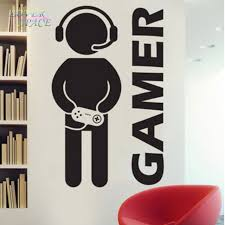 Gaming Home Decor New Video Game Gaming Gamer Joystick Wall Decal Art Home Decor