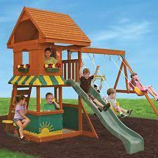 wooden swing set ebay