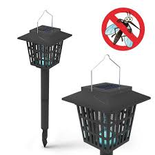 Outdoor Bug Lights by Led Solar Powered Garden Lamp U0026 Electronic Mosquito Bug Zapper