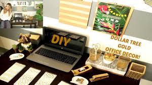 diy dollar tree gold office decor youtube