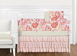 Floral Crib Bedding Sets 9 Pc Pink And Shabby Chic Watercolor