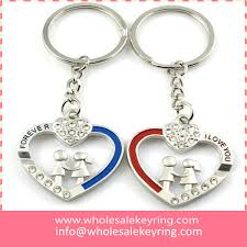 love key rings images I love you couple hearts keyrings metal pair heart shaped keychain jpg