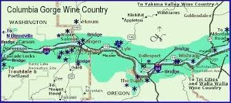 lodging river oregon columbia river gorge wine country map for lodging and dining