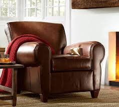 What Is Armchair Travel Manhattan Leather Armchair Pottery Barn