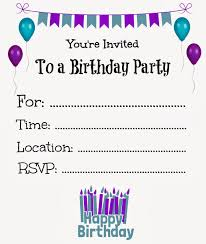Party Cards Invitations To Print Free Birthday Invites Marialonghi Com
