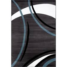 Modern Black Rugs World Rug Gallery Contemporary Modern Wavy Circles Gray 7 Ft 10