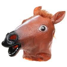 zebra wolf horse unicorn animal head mask halloween costume