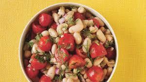 dilled white bean and grape tomato salad recipe bon appetit